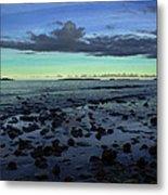 Stones In Water Metal Print by Oscar Karlsson