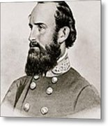 Stonewall Jackson Confederate General Portrait Metal Print by Anonymous