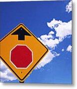 Stop Ahead Metal Print by Rona Black