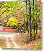 Stop - Beaver's Bend State Park - Highway 259 Broken Bow Oklahoma Metal Print by Silvio Ligutti