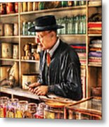 Store - In The General Store Metal Print by Mike Savad