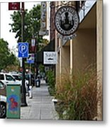 Storefronts In Historic Railroad Square Area Santa Rosa California 5d25806 Metal Print by Wingsdomain Art and Photography