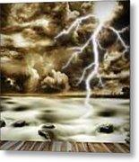 Storm Metal Print by Les Cunliffe