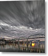 Storm Moving In Over Chattanooga Metal Print by Steven Llorca
