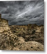Storm On The Plains  Metal Print by Garett Gabriel
