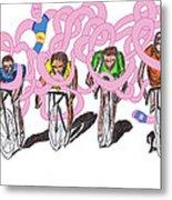 Storm Rider-me Vs Me By Will A.k Metal Print by Willhemus Ardylles
