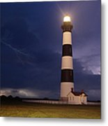 Stormy Bodie Lighthouse Outer Banks I Metal Print by Dan Carmichael