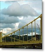 Stormy Bridge Metal Print by Frank Romeo