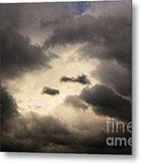 Stormy Sky With A Bit Of Blue Metal Print by Thomas R Fletcher