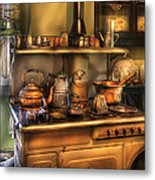 Stove - What's For Dinner Metal Print by Mike Savad