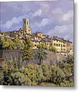 St.paul De Vence Metal Print by Guido Borelli