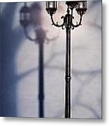 Street Lamp At Night Metal Print by Oleksiy Maksymenko