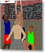 Streetball Shirts And Skins Hoopz 4 Life Metal Print by Pharris Art
