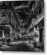 Streets Of Havana Bw Metal Print by Erik Brede
