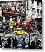 Streets Of Manhattan 20 Metal Print by Mario Perez
