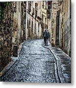 Streets Of Segovia Metal Print by Joan Carroll