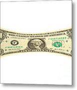 Stretching The Dollar Metal Print by Olivier Le Queinec