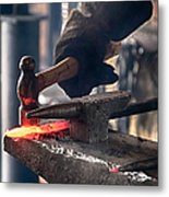 Strike While The Iron Is Hot Metal Print by Trever Miller