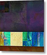 Stripes And Squares - Abstract -art Metal Print by Ann Powell