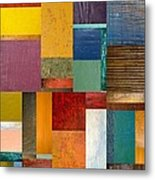 Strips And Pieces Ll Metal Print by Michelle Calkins