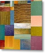 Strips And Pieces Lv Metal Print by Michelle Calkins