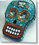 Sugar Skull Metal Print by Jenny Bowman