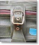 Suitcase Buckle Metal Print by Tom Gowanlock