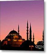 Suleymaniye Sundown 02 Metal Print by Rick Piper Photography