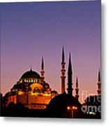 Suleymaniye Sundown 03 Metal Print by Rick Piper Photography