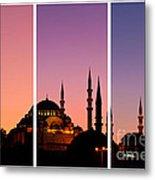 Suleymaniye Sundown Triptych 01 Metal Print by Rick Piper Photography