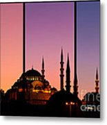 Suleymaniye Sundown Triptych 02 Metal Print by Rick Piper Photography