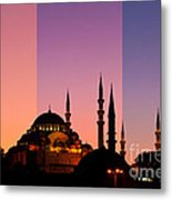Suleymaniye Sundown Triptych 05 Metal Print by Rick Piper Photography