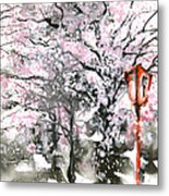 Sumie No.3 Cherry Blossoms Metal Print by Sumiyo Toribe