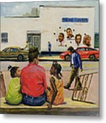 Summer City Stoop Metal Print by Colin Bootman
