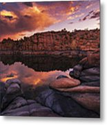 Summer Dells Sunset Metal Print by Peter Coskun