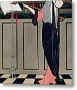 Summer Evening Wear From Art Gout Beaute Metal Print by Georges Barbier
