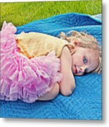Summer Rest With Blueberries Metal Print by Valerie Garner