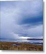 Summer Storm Over The Lake Metal Print by Skip Nall