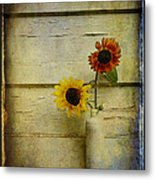 Summer Sunflowers Metal Print by Sari Sauls