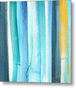 Summer Surf- Abstract Painting Metal Print by Linda Woods