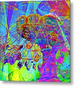 Summertime At Santa Cruz Beach Boardwalk 5d23905 Metal Print by Wingsdomain Art and Photography