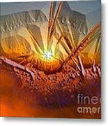 Sun Set Metal Print by Vagik Iskandar
