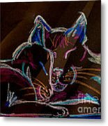 Sunbeam Cats Metal Print by Michelle Wolff