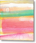 Sunday In The Park- Contemporary Abstract Painting Metal Print by Linda Woods