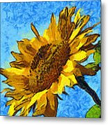 Sunflower Abstract Metal Print by Unknown
