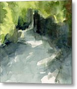 Sunlight And Foliage Conservatory Garden Central Park Watercolor Painting Metal Print by Beverly Brown
