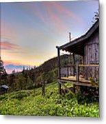 Sunrise At Mt Leconte Metal Print by Debra and Dave Vanderlaan