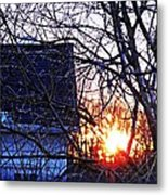 Sunrise Next Door Metal Print by Sarah Loft