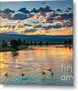Sunrise On The North Payette River Metal Print by Robert Bales
