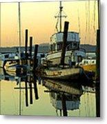 Sunrise On The Petaluma River Metal Print by Bill Gallagher